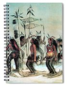 Native American Indian Snow-shoe Dance Spiral Notebook