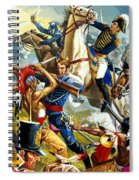 Native American Indians Vs American Soldiers Spiral Notebook