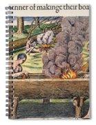 Native Americans: Canoe, 1590 Spiral Notebook