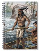 Native Americans/fishing Spiral Notebook