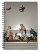 Nativity Set Spiral Notebook