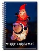 Nature Center Santa Card Spiral Notebook