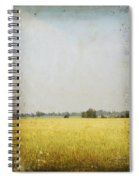 Nature Painting On Old Grunge Paper Spiral Notebook