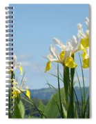 Nature Photography Irises Art Prints Spiral Notebook