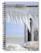 Natures Ice Sculptures1 Spiral Notebook