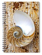 Nautilus Shell On Rusty Table Spiral Notebook