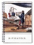 Navigator, 19th Century Spiral Notebook