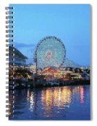 Navy Pier Chicago Digital Art Spiral Notebook