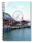 Navy Pier Chicago Summer Time Spiral Notebook