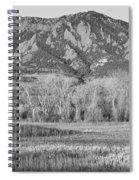 Ncar And Flatiron View Boulder Colorado Bw Spiral Notebook