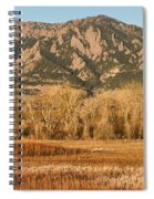 Ncar And Flatiron View Boulder Colorado   Spiral Notebook