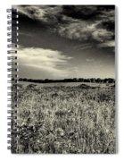 Nebraska Prairie Two In Black And White Spiral Notebook