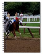Neck And Neck At Saratoga Two Spiral Notebook