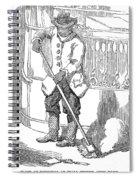 Negro Porter, 19th Century Spiral Notebook
