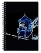 Neon Water Tower Spiral Notebook