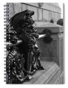 Neptune Dakota In Black And White Spiral Notebook