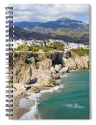 Nerja Town On Costa Del Sol In Spain Spiral Notebook