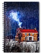 Nestled In For The Winter Spiral Notebook