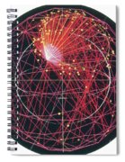Neutrino Tracks Spiral Notebook