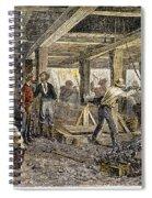 Nevada Silver Mine, C1880 Spiral Notebook