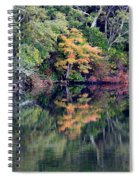 New England Fall Reflection Spiral Notebook