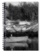 New England Skiff Bw Spiral Notebook