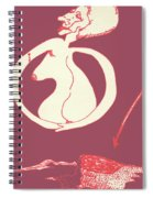 New Mexico Moon Rose Spiral Notebook