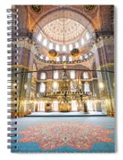 New Mosque Interior In Istanbul Spiral Notebook