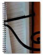 New Oleans White And Orange Spiral Notebook