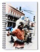 New Orleans Street Musician - Tuba Man Spiral Notebook