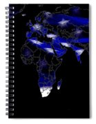 New World Map Spiral Notebook