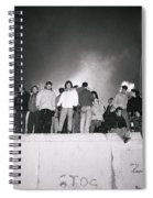 New Year At The Berlin Wall Spiral Notebook