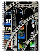 New York Abstract 1 Spiral Notebook