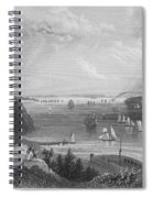 New York Bay, 1838 Spiral Notebook