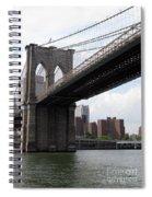 New York Bridges 1- Brooklyn Bridge Spiral Notebook