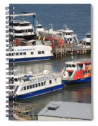 New York City Sightseeing Boats Spiral Notebook