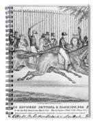 New York: Horse Race, 1845 Spiral Notebook