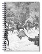 New York: Snowstorm, 1887 Spiral Notebook