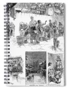 New York: Wash Day, 1889 Spiral Notebook