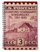 Newburgh Ny Postage Stamp Spiral Notebook