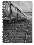 Next Tracks In Black And White Spiral Notebook