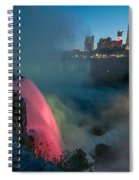 Niagara At Night Spiral Notebook