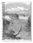 Niagara Falls, 1849 Spiral Notebook