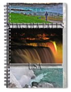 Niagara Falls Usa Triptych Series With Text Spiral Notebook