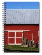 Nice Red Barn Spiral Notebook