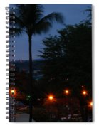 Night Lights On The Mountain Spiral Notebook