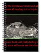 Night Of Christmas Spiral Notebook