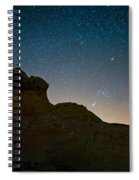 Night Sky Over Valley Of Fire Spiral Notebook