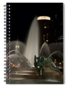 Night View Of Swann Fountain Spiral Notebook