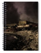 Nightfall Over Hard Time - San Quentin California State Prison - 5d18454 - Partial Sepia Spiral Notebook